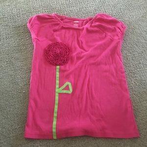 Pink embellished flower Gymboree shirt size 9
